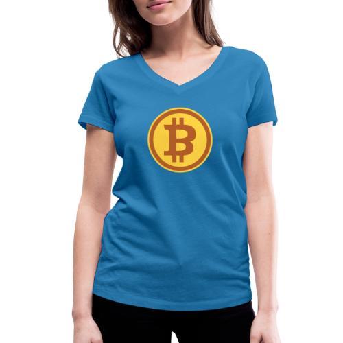 Bitcoin - Frauen Bio-T-Shirt mit V-Ausschnitt von Stanley & Stella