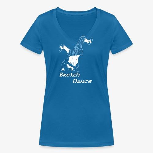BZH Atypik Design - Breizh Dancer - T-shirt bio col V Stanley & Stella Femme