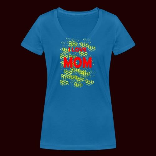 I LOVE MOM - T-shirt bio col V Stanley & Stella Femme