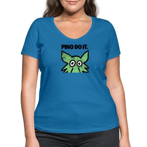 PINO DO IT - T-shirt ecologica da donna con scollo a V di Stanley & Stella