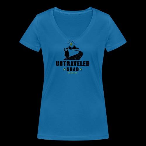 Untraveled Road Logo - black/small - Frauen Bio-T-Shirt mit V-Ausschnitt von Stanley & Stella