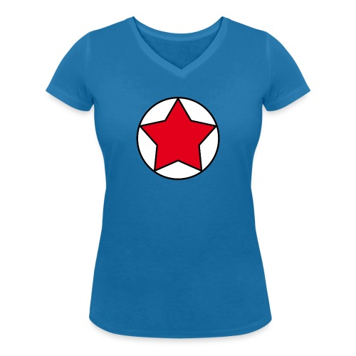 Escudo estrella Pilaf - Camiseta ecológica mujer con cuello de pico de Stanley & Stella