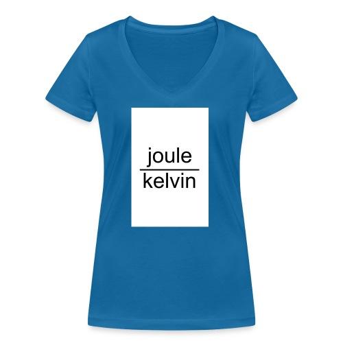 J/K unità di misura dell'ENTROPIA - T-shirt ecologica da donna con scollo a V di Stanley & Stella