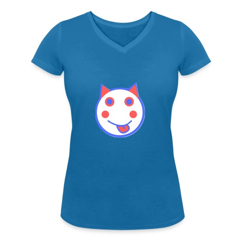 Red White And Blue - Alf Da Cat - Women's Organic V-Neck T-Shirt by Stanley & Stella