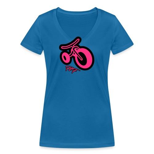 3cycle FTF white - T-shirt ecologica da donna con scollo a V di Stanley & Stella