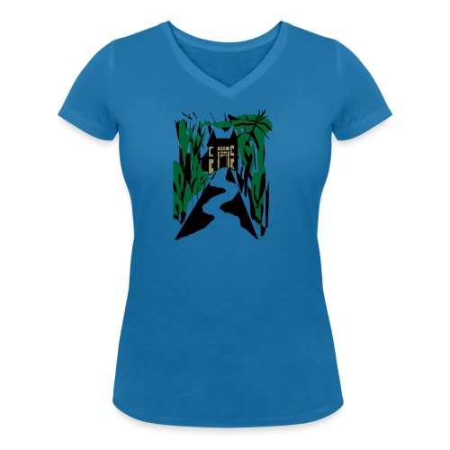 HALLOWEEN SPOOKY HAUNTED MANSION 2017 - Frauen Bio-T-Shirt mit V-Ausschnitt von Stanley & Stella