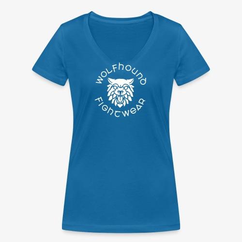 logo round w - Women's Organic V-Neck T-Shirt by Stanley & Stella