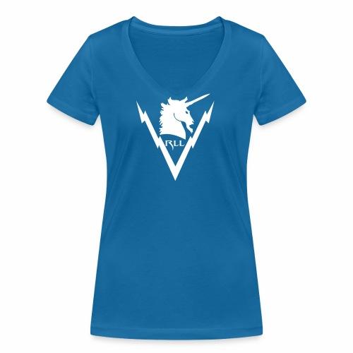 Brand RLL White - T-shirt ecologica da donna con scollo a V di Stanley & Stella