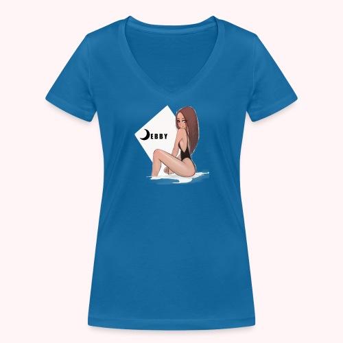 Brunette Girl - T-shirt ecologica da donna con scollo a V di Stanley & Stella