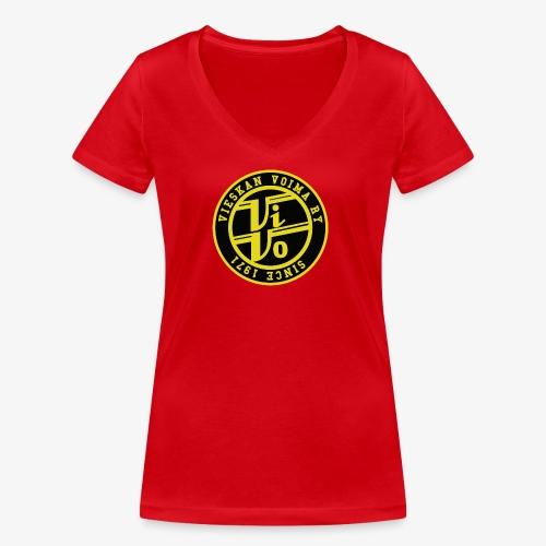 ViVo Since 1971 - Stanley & Stellan naisten v-aukkoinen luomu-T-paita