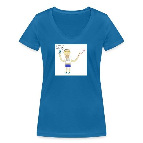 Hipster at Häng Bar - Ekologisk T-shirt med V-ringning dam från Stanley & Stella