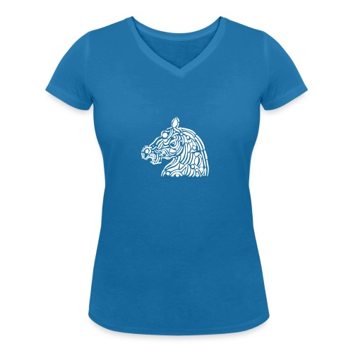 horse - cheval blanc - T-shirt bio col V Stanley & Stella Femme