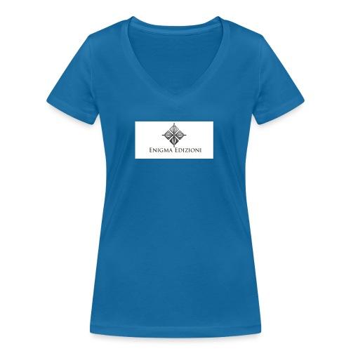 enigma - T-shirt ecologica da donna con scollo a V di Stanley & Stella