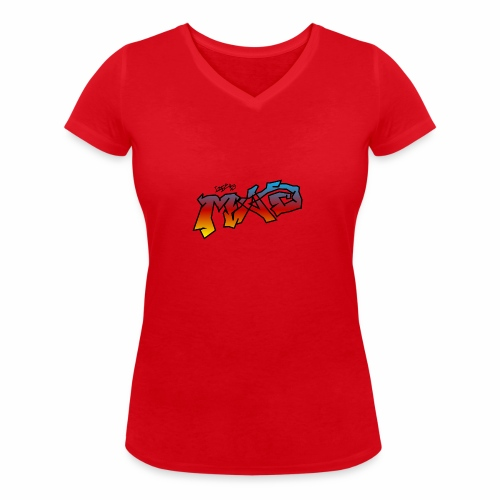 Life Is MAD CGI Makeover TM collaboration - Women's Organic V-Neck T-Shirt by Stanley & Stella