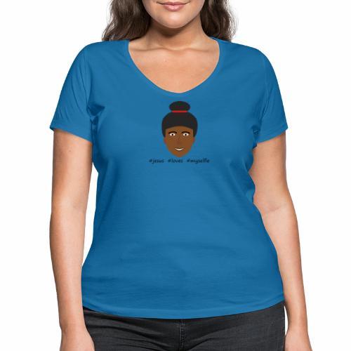 jesus loves myselfie - Frauen Bio-T-Shirt mit V-Ausschnitt von Stanley & Stella