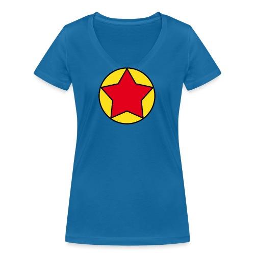 Escudo estrella 2 Pilaf - Camiseta ecológica mujer con cuello de pico de Stanley & Stella