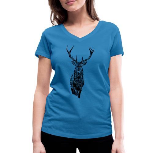 Hirsch - Frauen Bio-T-Shirt mit V-Ausschnitt von Stanley & Stella