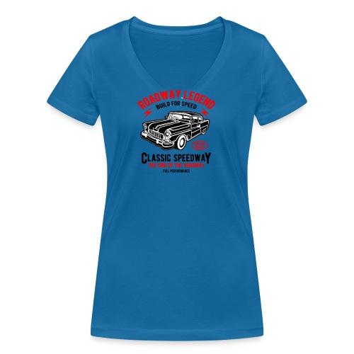 Roadway Legend Build for Speed - Vrouwen bio T-shirt met V-hals van Stanley & Stella