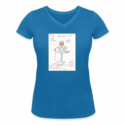 Big Swimmer Bill DHIRT - Women's Organic V-Neck T-Shirt by Stanley & Stella