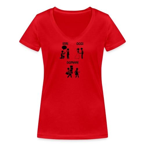 4 - T-shirt ecologica da donna con scollo a V di Stanley & Stella