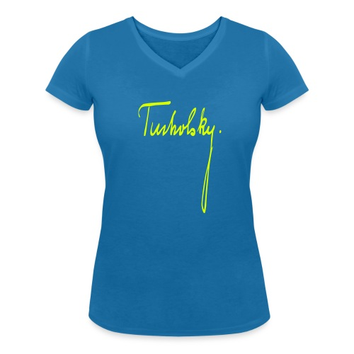 Kurt Tucholsky - Frauen Bio-T-Shirt mit V-Ausschnitt von Stanley & Stella