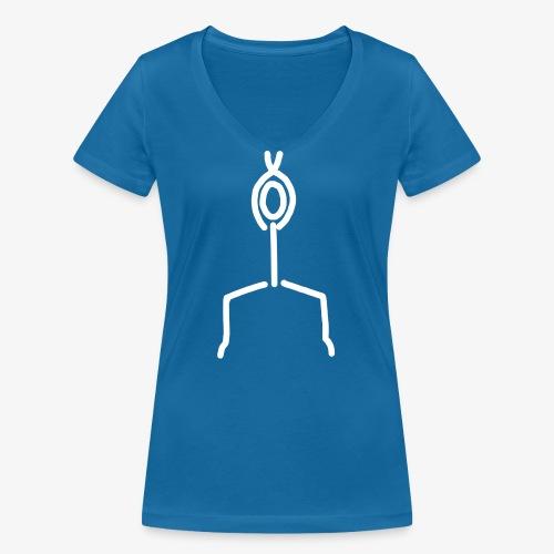 iYpsilon Zehenstand - Frauen Bio-T-Shirt mit V-Ausschnitt von Stanley & Stella