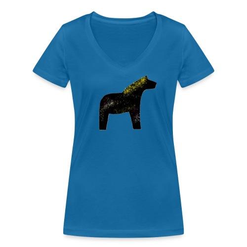 Dala Pinni Art® black - Frauen Bio-T-Shirt mit V-Ausschnitt von Stanley & Stella