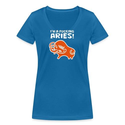 Aries - T-shirt ecologica da donna con scollo a V di Stanley & Stella
