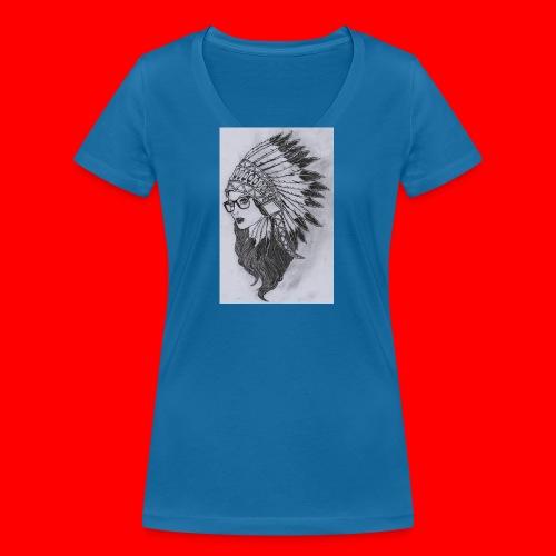 indian - T-shirt ecologica da donna con scollo a V di Stanley & Stella