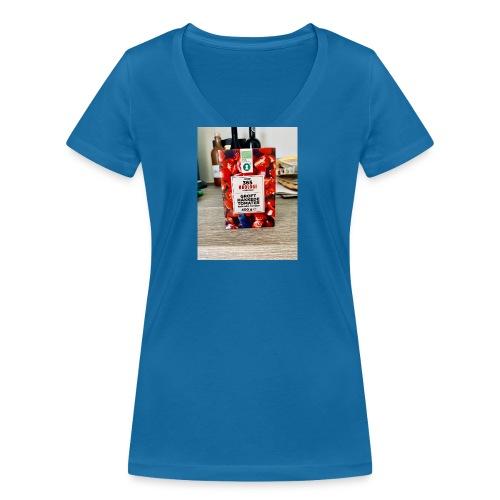 Tomato - Økologisk Stanley & Stella T-shirt med V-udskæring til damer