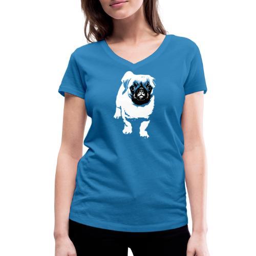 Mops Hund Hunde Möpse Geschenk - Frauen Bio-T-Shirt mit V-Ausschnitt von Stanley & Stella