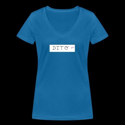 dito - Camiseta ecológica mujer con cuello de pico de Stanley & Stella