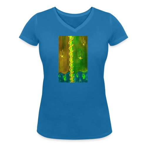 TORNI - Stanley & Stellan naisten v-aukkoinen luomu-T-paita