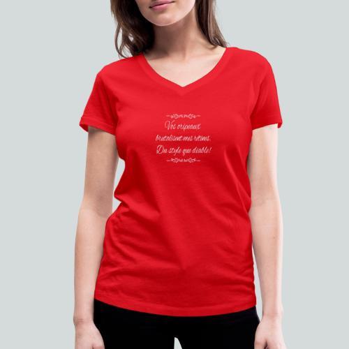 Du Style que diable! - T-shirt bio col V Stanley & Stella Femme
