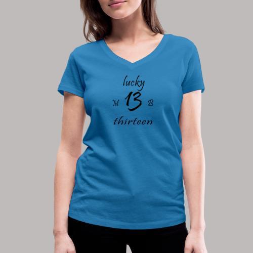 lucky 13 MB - Women's Organic V-Neck T-Shirt by Stanley & Stella