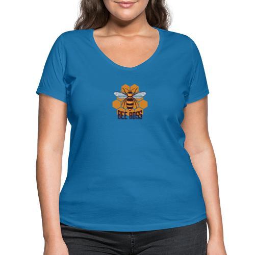 Bee Boss Biene Bienenkönigin Waben - Frauen Bio-T-Shirt mit V-Ausschnitt von Stanley & Stella