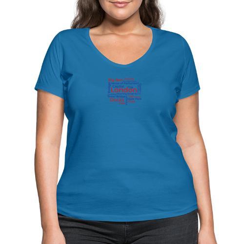 London Word Cloud - London Souvenir Schlagworte - Frauen Bio-T-Shirt mit V-Ausschnitt von Stanley & Stella