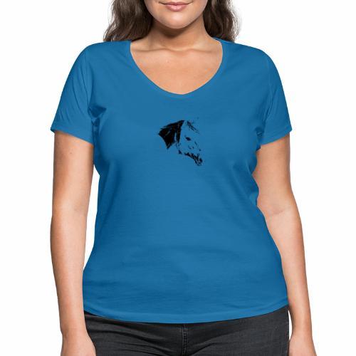 Pferd als schwarze Silhuette - Frauen Bio-T-Shirt mit V-Ausschnitt von Stanley & Stella