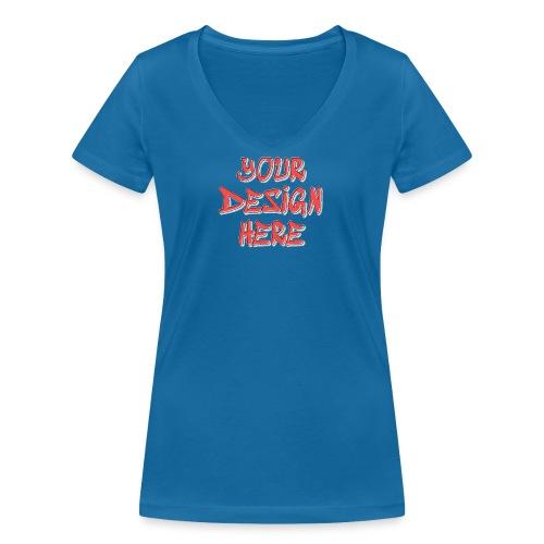 textfx - Ekologisk T-shirt med V-ringning dam från Stanley & Stella