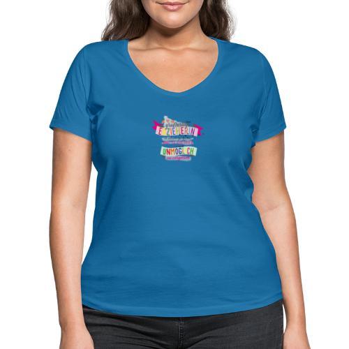 Großartige Erzieherin - Frauen Bio-T-Shirt mit V-Ausschnitt von Stanley & Stella