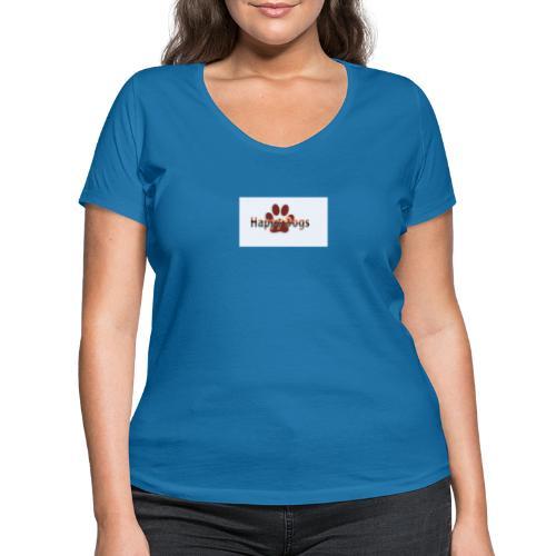 Happy dogs - Frauen Bio-T-Shirt mit V-Ausschnitt von Stanley & Stella