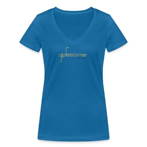 Firmenlogo - Frauen Bio-T-Shirt mit V-Ausschnitt von Stanley & Stella