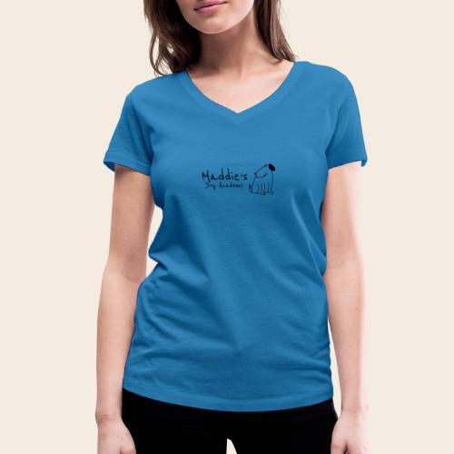 Académie des chiens de Maddie (noir) - T-shirt bio col V Stanley & Stella Femme