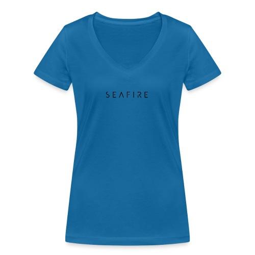 seafire logo BLACK - Vrouwen bio T-shirt met V-hals van Stanley & Stella