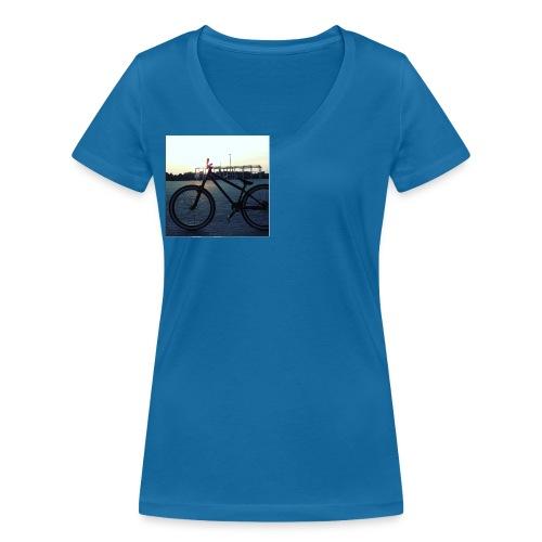 Motyw 2 - Ekologiczna koszulka damska z dekoltem w serek Stanley & Stella