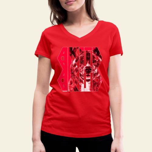 Akita NASSU I - Stanley & Stellan naisten v-aukkoinen luomu-T-paita