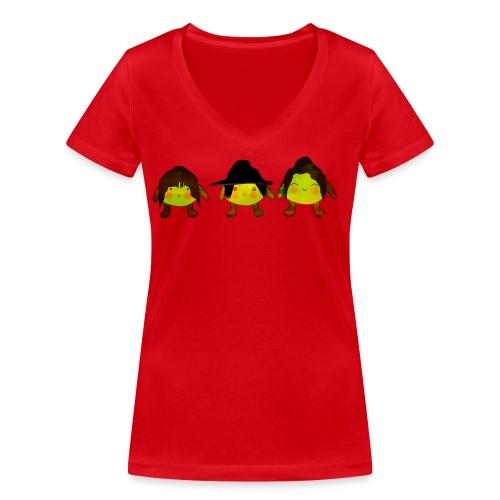 Le Suore Limone - T-shirt ecologica da donna con scollo a V di Stanley & Stella