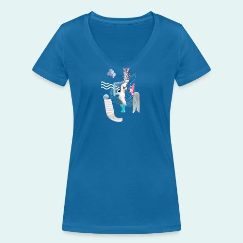 Virtual plaza - Økologisk Stanley & Stella T-shirt med V-udskæring til damer