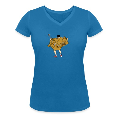 Funny man - Women's Organic V-Neck T-Shirt by Stanley & Stella