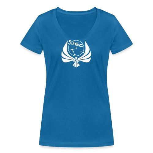 ugc-wappen-04 - Frauen Bio-T-Shirt mit V-Ausschnitt von Stanley & Stella